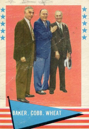 Photo of 1961 Fleer #1 Frank Baker CL/Ty Cobb/Zack Wheat