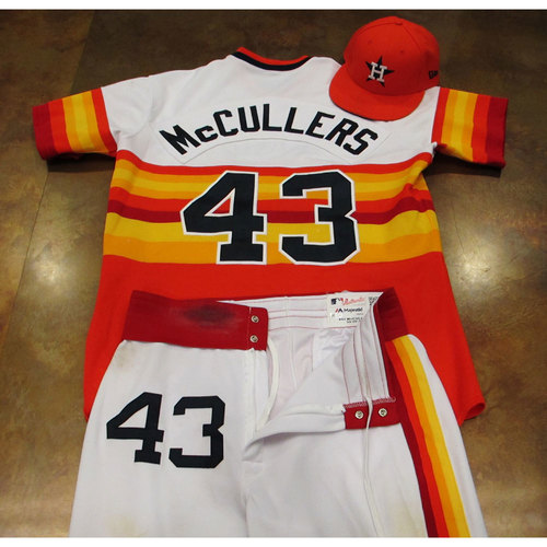 Photo of Lance McCullers Astros Game-Used Turn Back The Clock Uniform 6/24/17