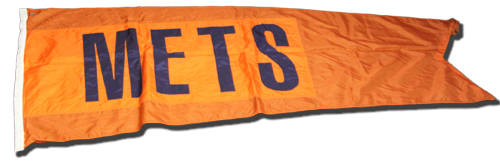 Wrigley Field Collection -- Scoreboard Flag -- Mets