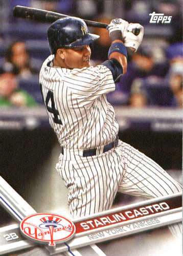 Photo of 2017 Yankees Topps #NYY14 Starlin Castro