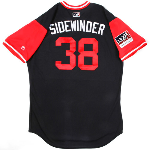 """Photo of Joe """"Sidewinder"""" Smith Cleveland Indians Game-Used Players Weekend Jersey"""