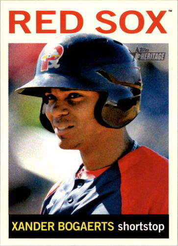 Photo of 2013 Topps Heritage Minors #50A Xander Bogaerts -- Red Sox post-season