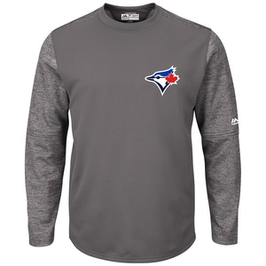Toronto Blue Jays Authentic Collection Tech Fleece Grey by Majestic