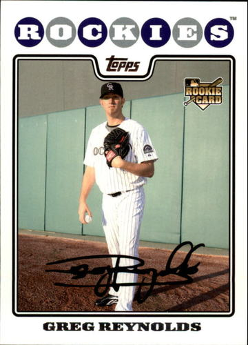 Photo of 2008 Topps Update #UH183 Greg Reynolds RC