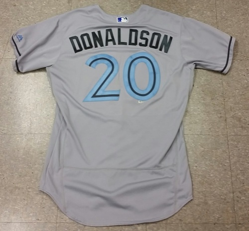 Photo of  Authenticated Game Used Josh Donaldson Father's Day Jersey