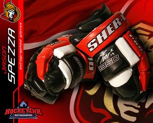 JASON SPEZZA Signed Ottawa Senators Sher-Wood Gloves