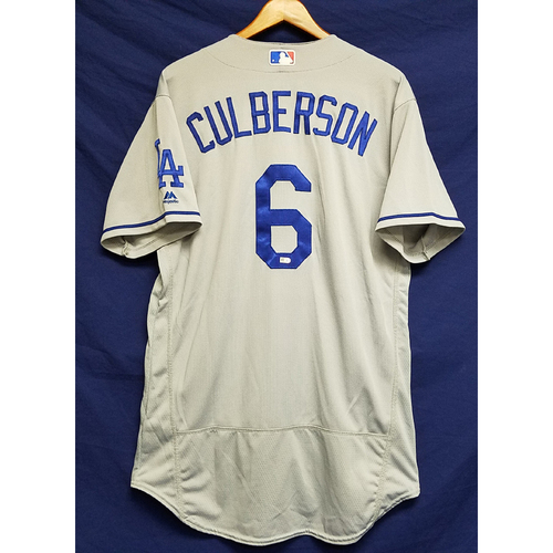 Photo of Charlie Culberson Game-Used Road Jersey - 9/28/16 vs. San Diego Padres