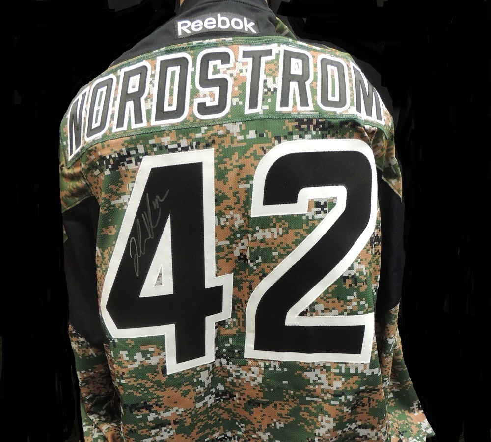 Carolina Hurricanes Joakim Nordstrom #42 Military Appreciation Jersey