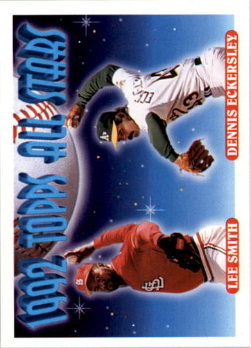 Photo of 1993 Topps #411 Lee Smith/Dennis Eckersley AS