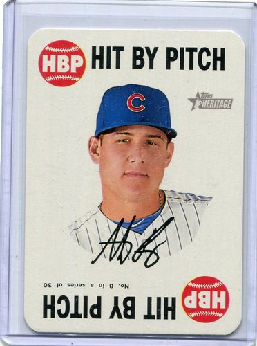 Photo of 2017 Topps Heritage Topps Game #8 Anthony Rizzo Cubs post-season