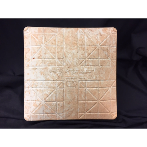 Photo of Joey Votto -- Game-Used Base, Used for 8th Inning Votto Single -- Recorded the 1,499th Hit of Career -- Cubs vs. Reds on July 2, 2017