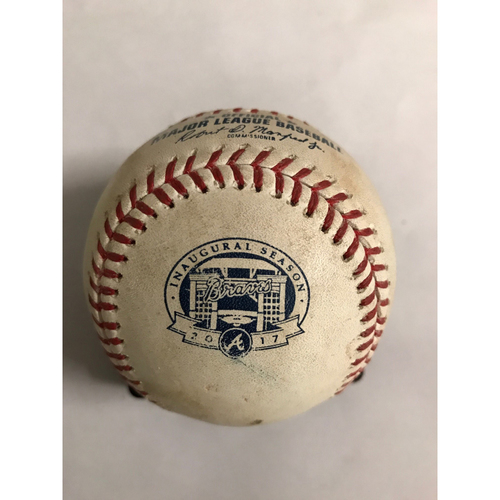 Photo of Jon Lester Hit Double Baseball - July 17, 2017
