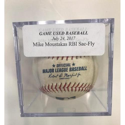 Game-Used Mike Moustakas RBI Sac-Fly