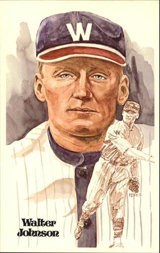 Photo of 1980-02 Perez-Steele Hall of Fame Postcards #2 Walter Johnson -- Set #08689