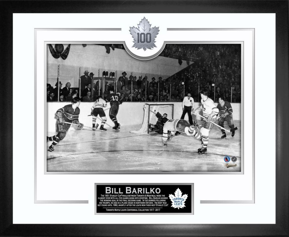 Bill Barilko - Framed The Goal 100th Anniversary