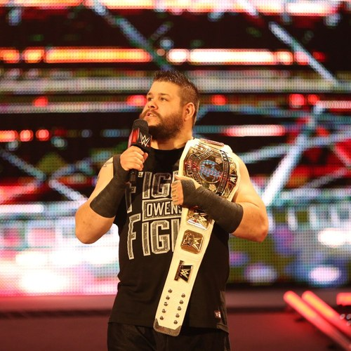 Photo of Kevin Owens WORN & SIGNED T-Shirt ( RAW Manchester - 11/09/15)