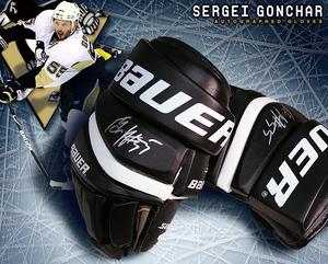 SERGEI GONCHAR Signed Dallas Stars Bauer Gloves