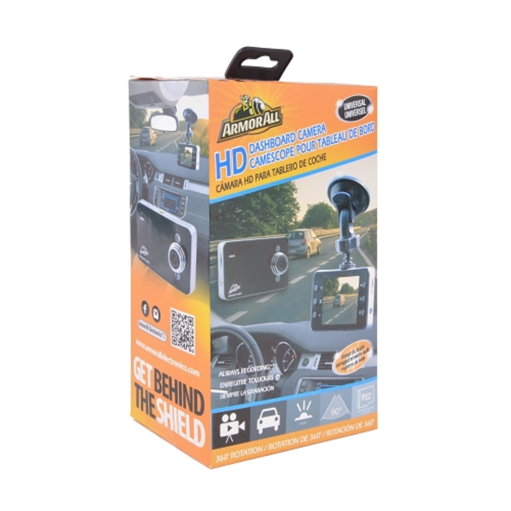 Armor All 1280x960 HD Dash Cam with Night Vision, 2.4