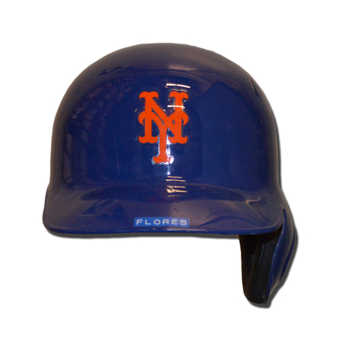Photo of Wilmer Flores #4 - Game Used 1986 Throwback Helmet - Mets vs. Phillies - 9/25/16
