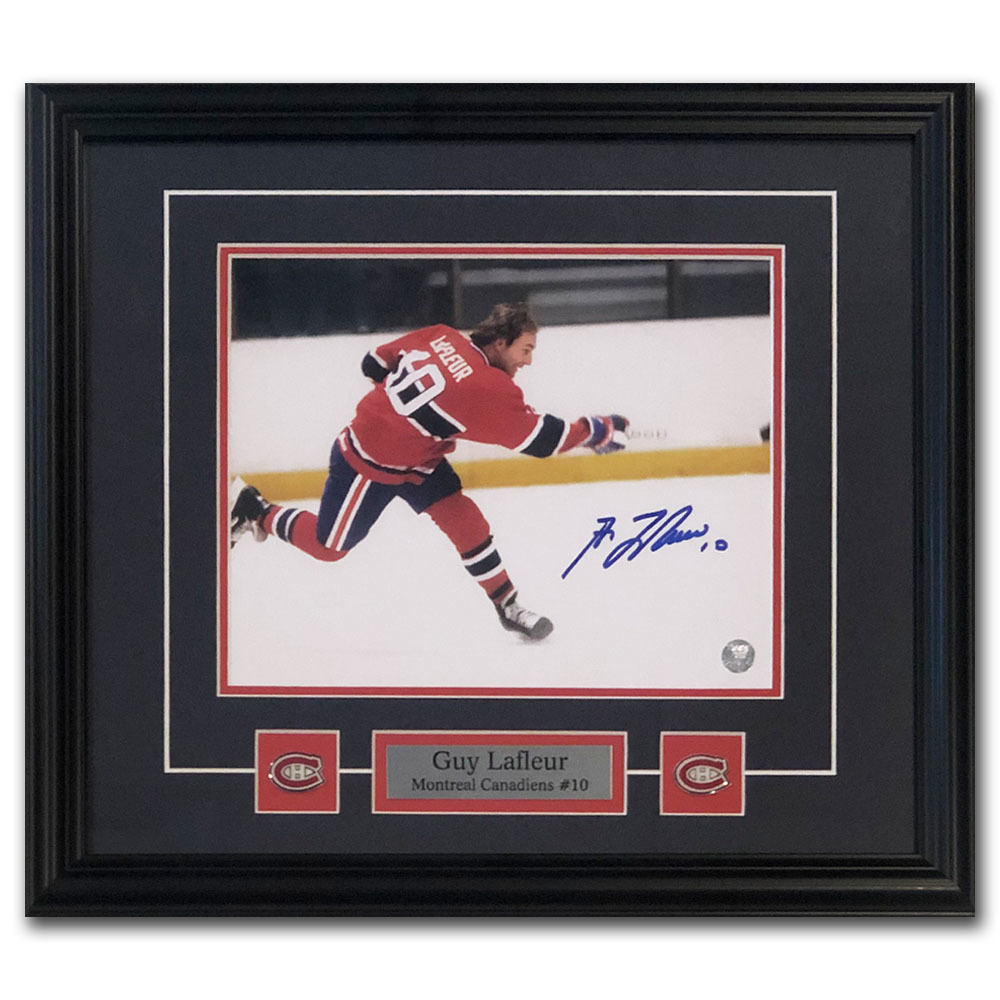 Guy Lafleur Autographed Montreal Canadiens Framed 8X10 Photo