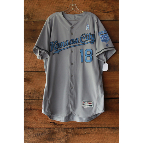 Photo of Rusty Kuntz Game-Used Jersey (6/17-18/17 LAA at KC) (Size 48)