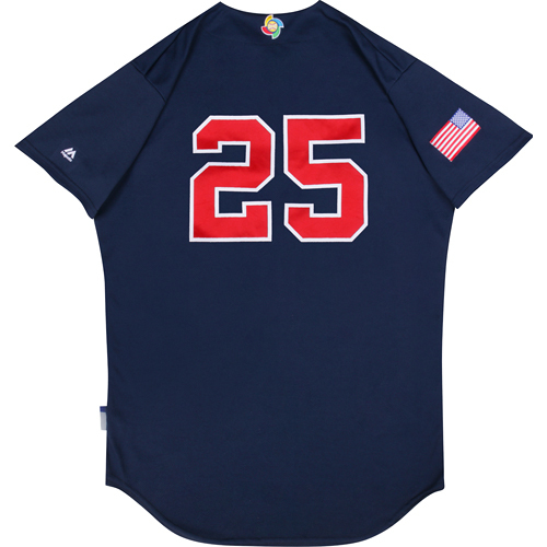 Photo of 2017 WBC: USA Game-Used Batting Practice Jersey, Jonathan Lucroy #25