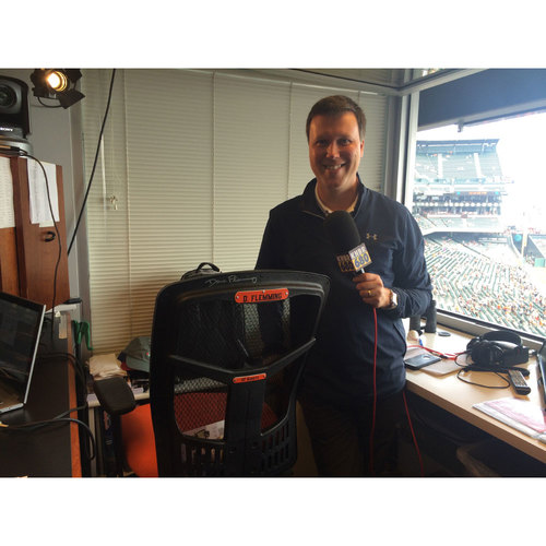 Photo of Giants End of Year Auction: Dave Flemming Autographed Announcer Chair