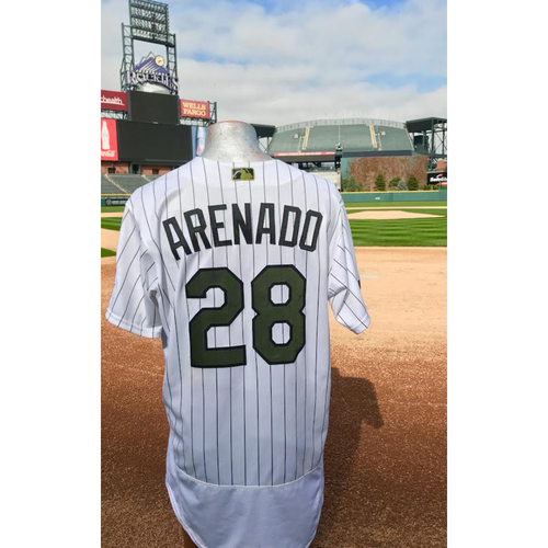 Photo of Nolan Arenado Game-Used Memorial Day Jersey