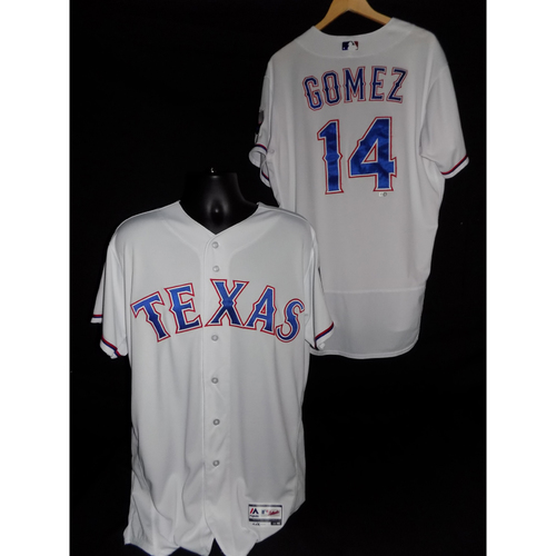 Photo of Carlos Gomez Game-Used Home Jersey Worn 9/8/2017 - Size 48