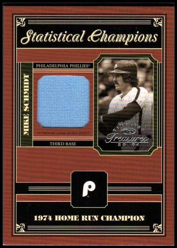 Photo of 2004 Timeless Treasures Statistical Champions #19 Mike Schmidt Jsy/74