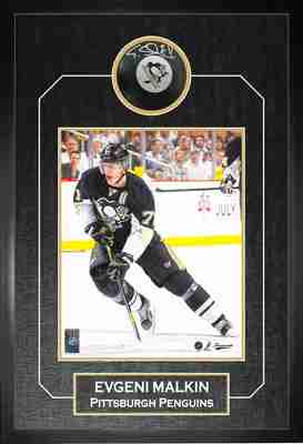 Evgeni Malkin - Signed & Framed Puck - Pittsburgh Penguins