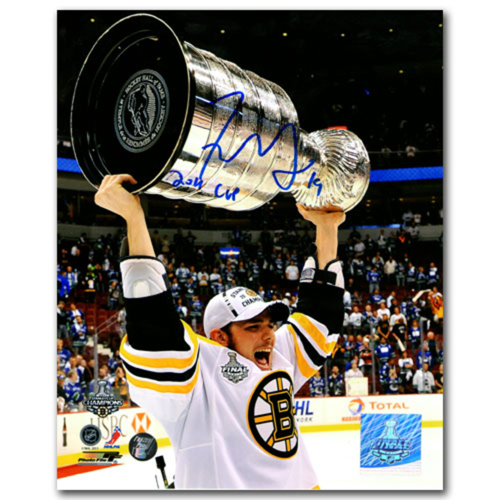 Tyler Seguin Autographed Boston Bruins 8X10 Photo w/2011 CUP Inscription