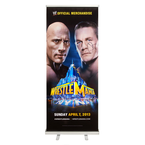 John Cena SIGNED WrestleMania 29 Banner-Up