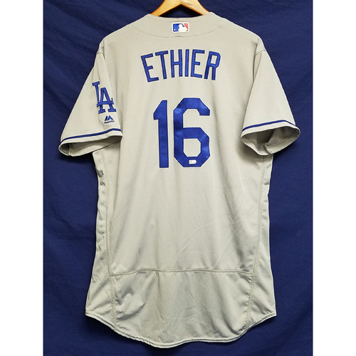 Photo of Andre Ethier Game-Used Road Jersey - 9/28/16 vs. San Diego Padres