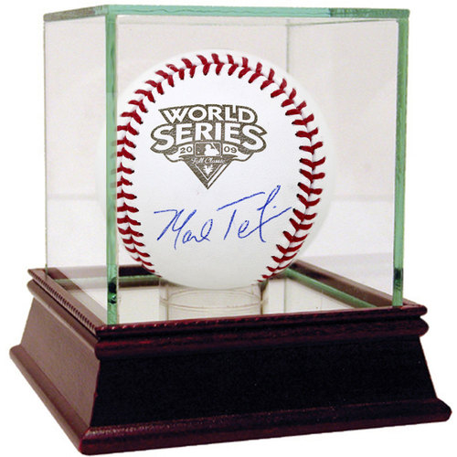 Photo of Mark Teixeira Autographed 2009 WS Baseball - Case Not Included