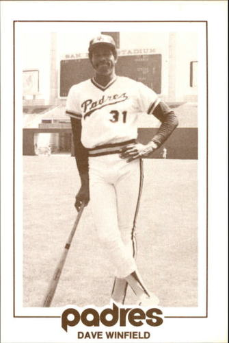Photo of 1977 Padres Schedule Cards #65D Dave Winfield
