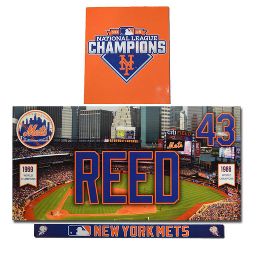 Photo of Addison Reed #43 - Game Used Locker Nameplate Set - 2016 Season