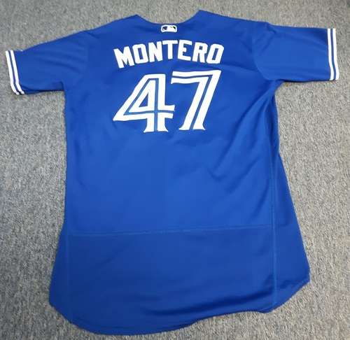 Photo of Authenticated Team Issued Jersey - #47 Miguel Montero (2017 Season). Size 46.