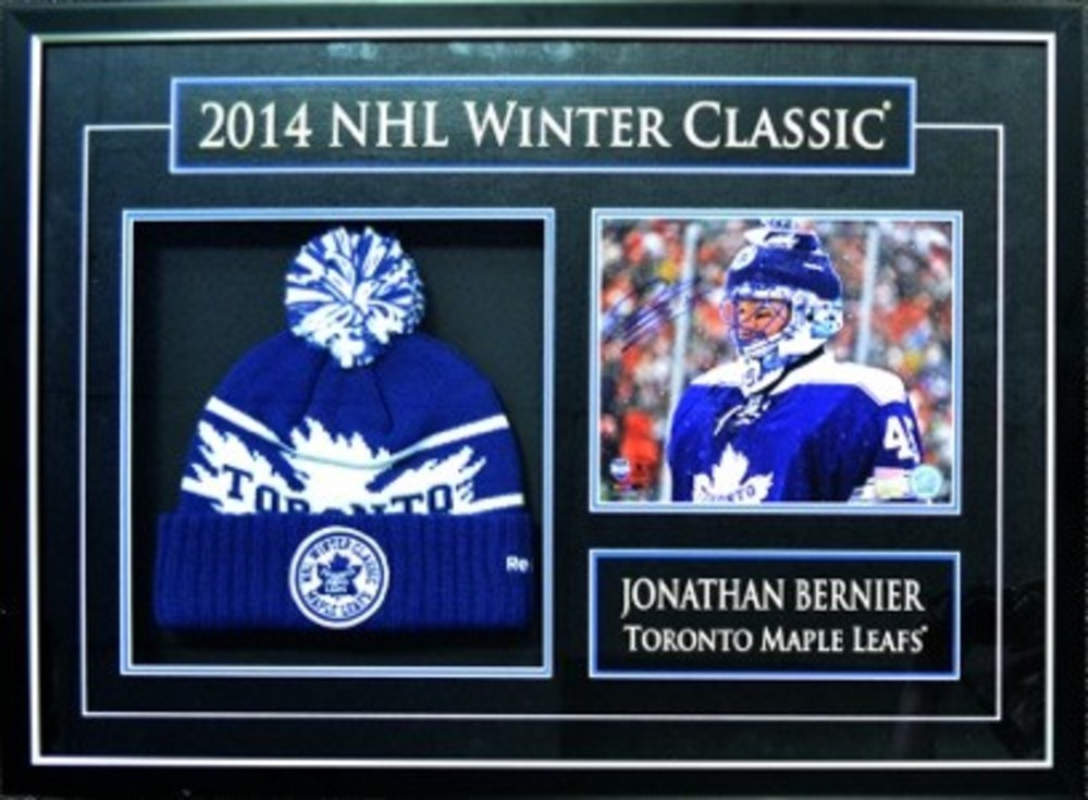 Bernier,J Signed 8x10 Framed With Actual 2014 Winter Classic Toque