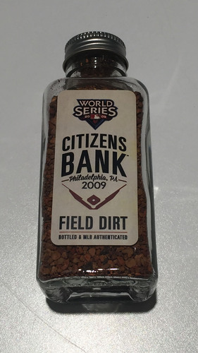 Photo of 2009 World Series Game-Used Dirt Jar - Citizens Bank Park
