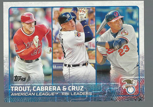 Photo of 2015 Topps #98 Mike Trout/Nelson Cruz/Miguel Cabrera LL