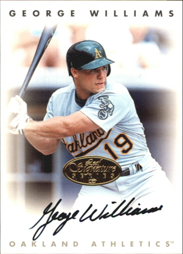 Photo of 1996 Leaf Signature Autographs Gold #246 George Williams