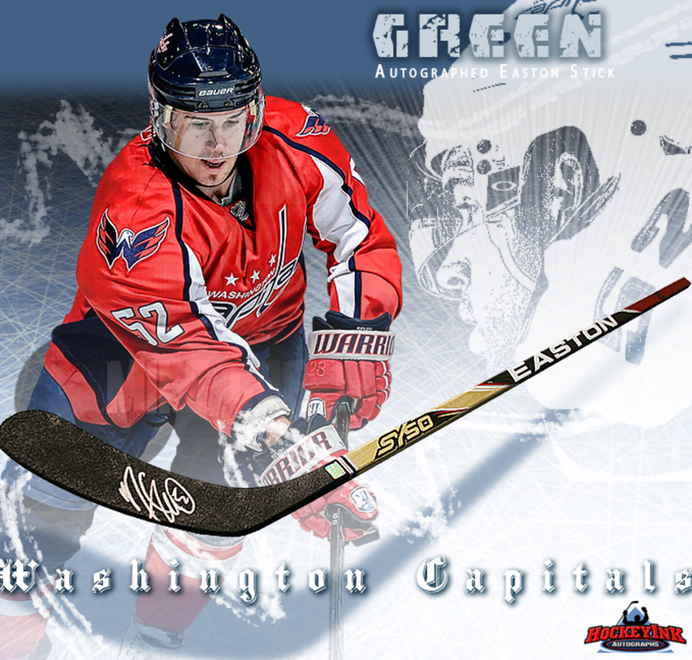 MIKE GREEN Signed Easton Stick - Washington Capitals