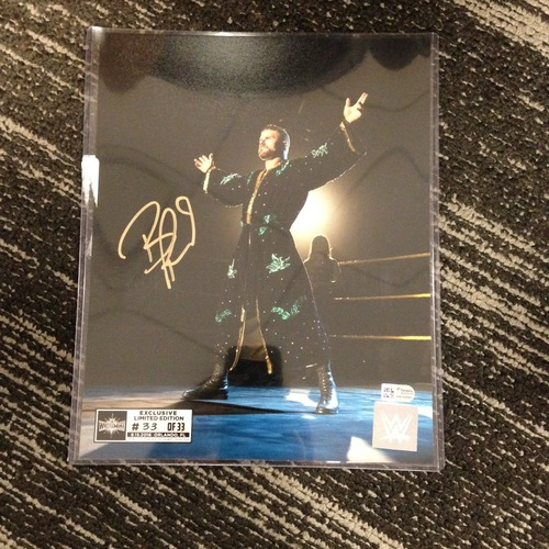 Photo of Bobby Roode SIGNED 8 x 10 Limited Edition WrestleMania 33 Photo (#33 of 33)