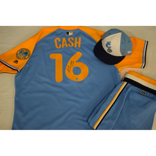 Photo of Autographed Turn Back the Clock Jersey, Hat and Pants: Kevin Cash
