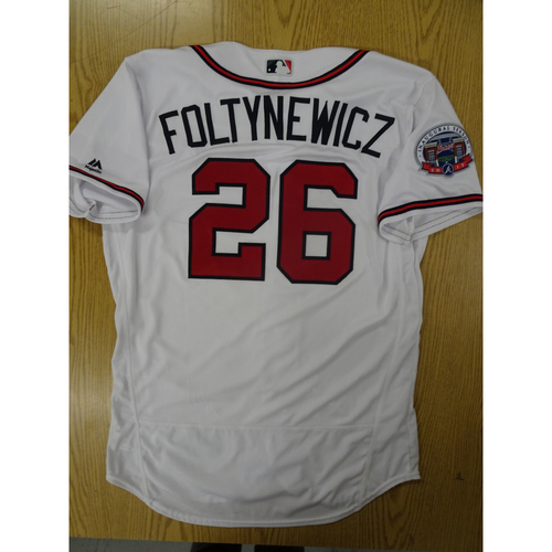 Photo of Mike Foltynewicz Game-Used Los Bravos Jersey - Worn 9/17/17 at SunTrust Park