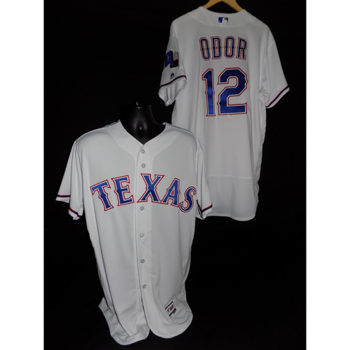 Photo of Rougned Odor Team-Issued Home Jersey - Size 46
