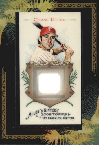Photo of 2008 Topps Allen and Ginter Relics #CU Chase Utley Jsy C