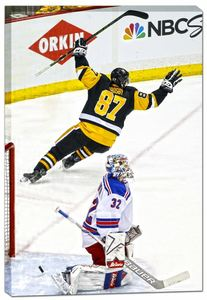 Sidney Crosby - 20x29 Pittsburgh Penguins Scoring vs New York Rangers Canvas - 2016 Stanley Cup Playoffs