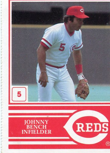 Photo of 1983 Reds Yearbook #5 Johnny Bench